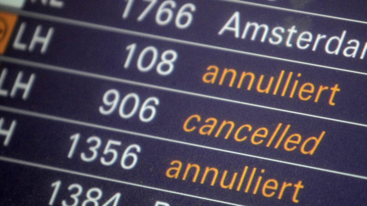Letiště ve Frankfurtu ruší lety