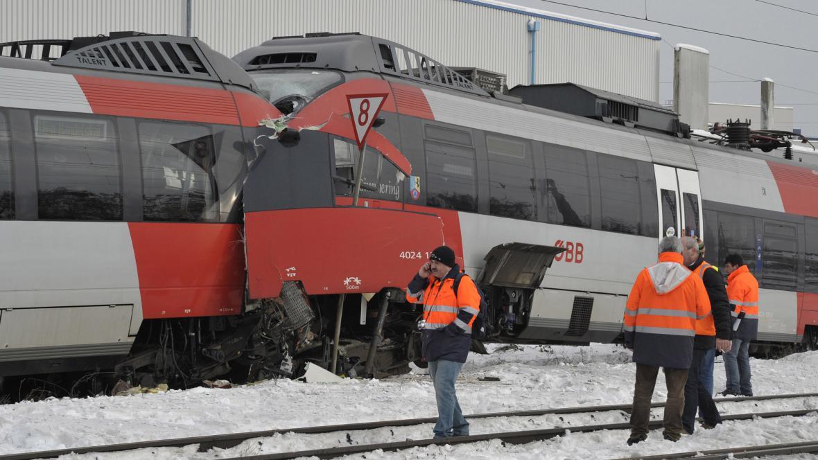 Ve Vídni se srazily vlaky