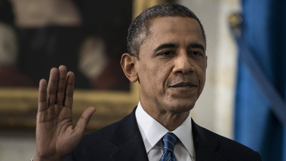 Barack Obama složil v Bílém domě svůj druhý prezidentský slib