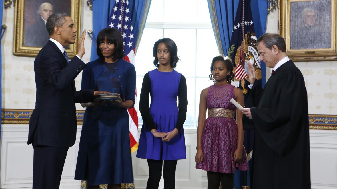Barack Obama složil v soukromí prezidentský slib