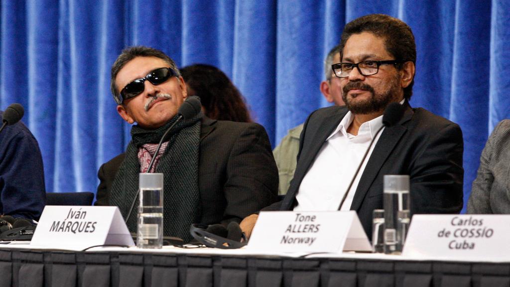Zástupci FARC na mírovém jednání v Norsku