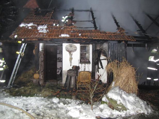 Požár stodoly v Kopřivnici