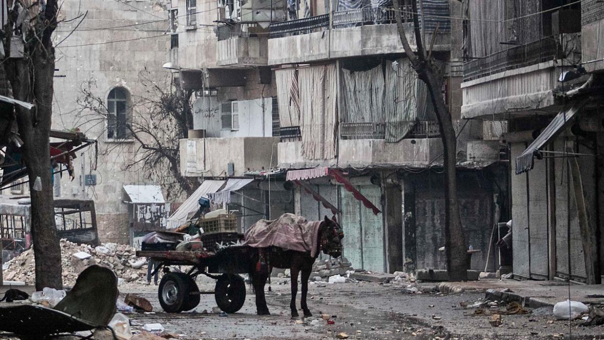 Ulice syrského Aleppa