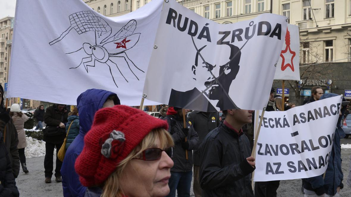 Protesty proti komunistům v Praze