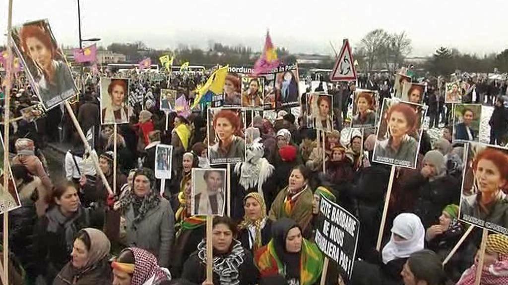 Pohřeb zavražděných kurdských aktivistek
