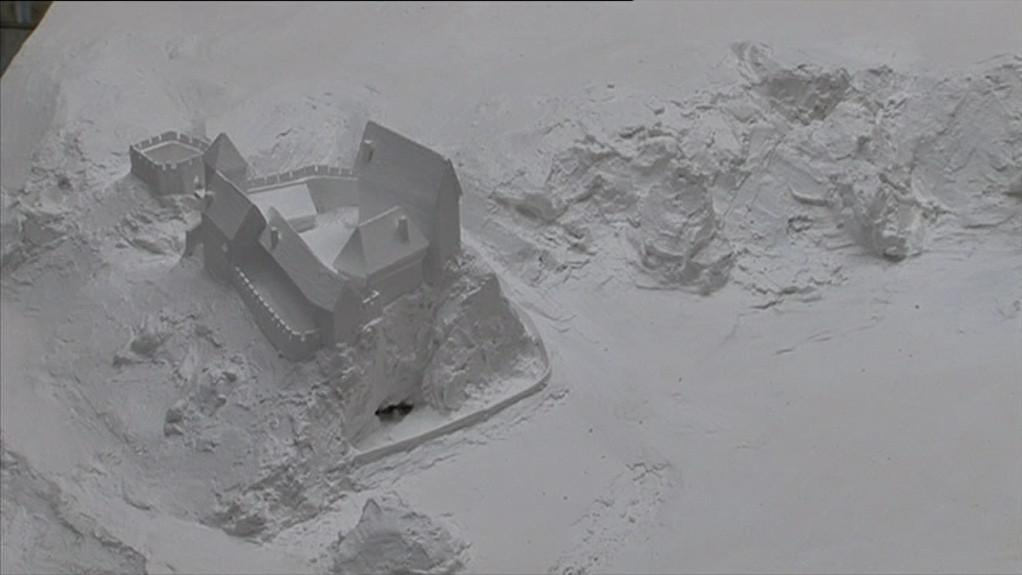 Lidé si mohou prohlédnout modely hradů