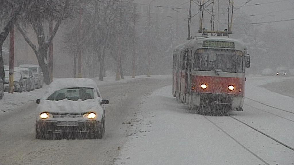 Dopravu na Slovensku komplikuje sněžení