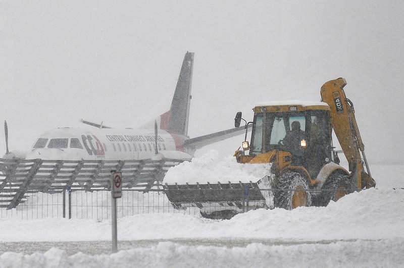 Sníh na letišti