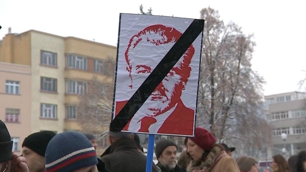Protestovalo se na Den lidských práv