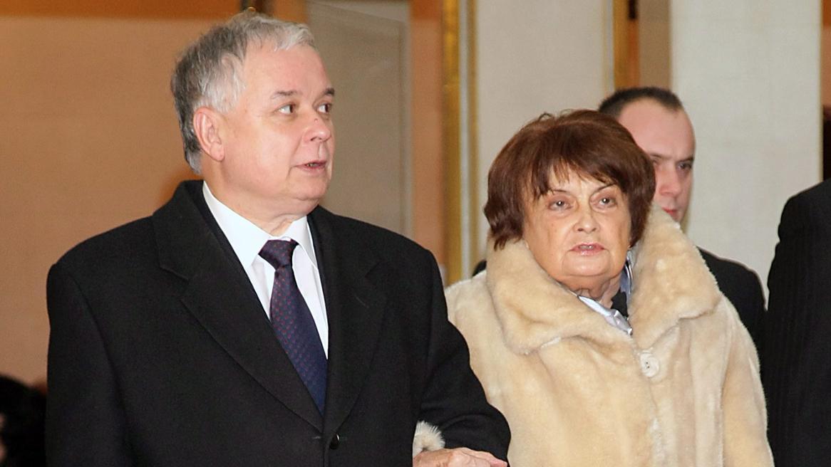 Jadwiga Kaczyńská se synem Lechem