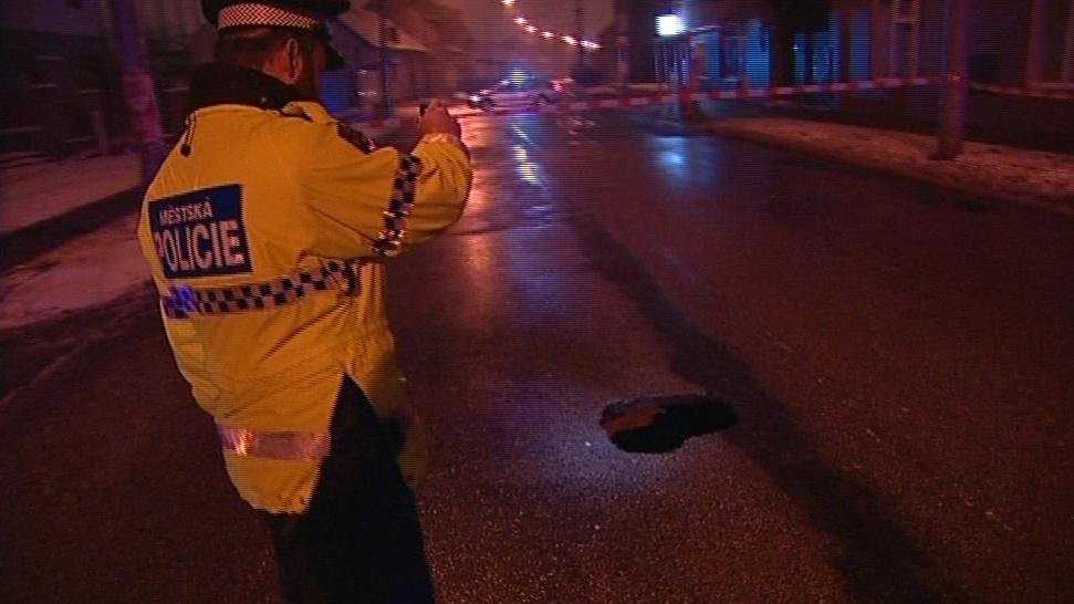 V Brně se propadla silnice