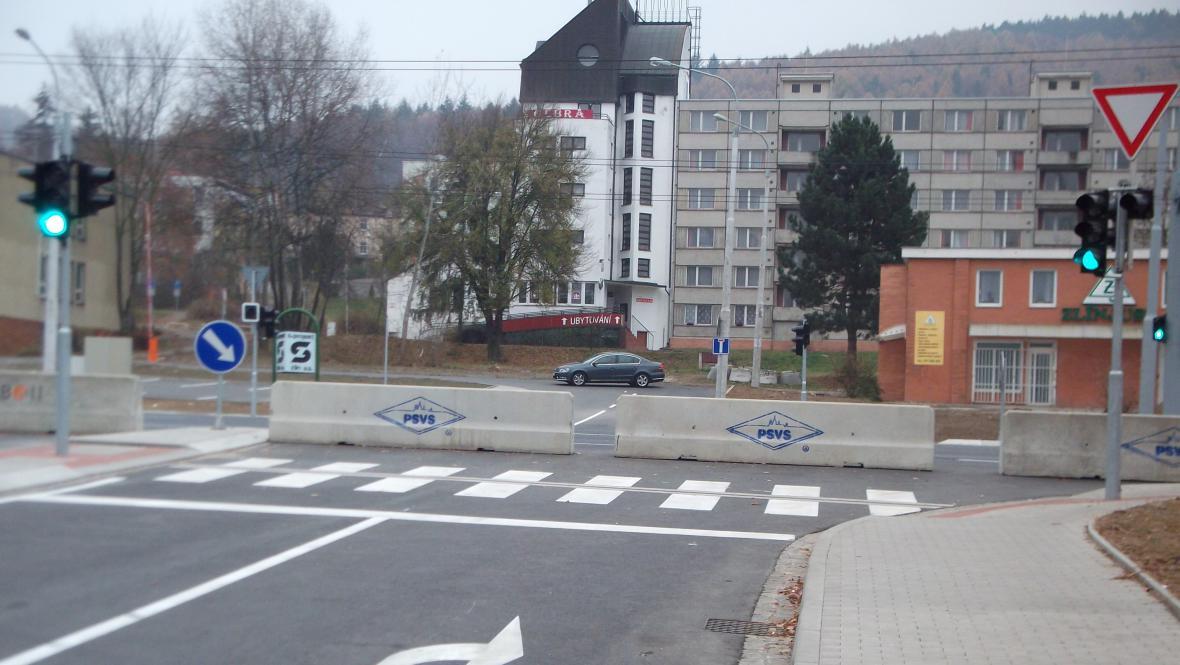 Křižovatka u Baťova areálu