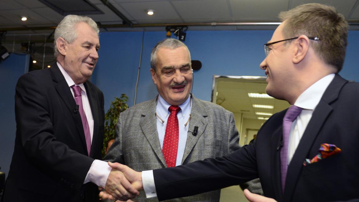 Miloš Zeman a Karel Schwarzenberg v OVM