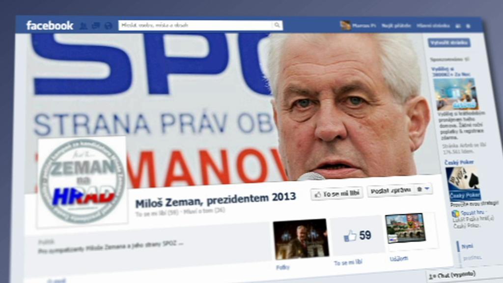 Kampaň Miloše Zemana na sociálních sítích