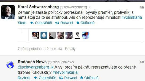 Z Twitteru Karla Schwarzenberga