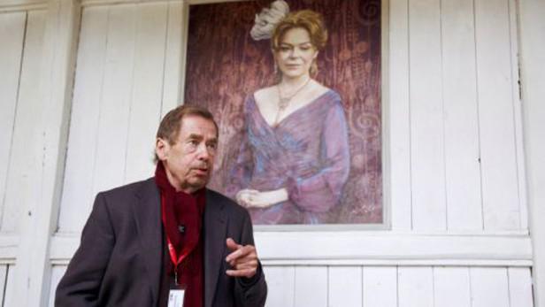 Václav Havel režíruje film Odcházení