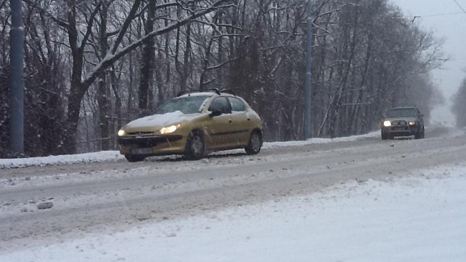 Dopravu v Brně komplikuje sníh