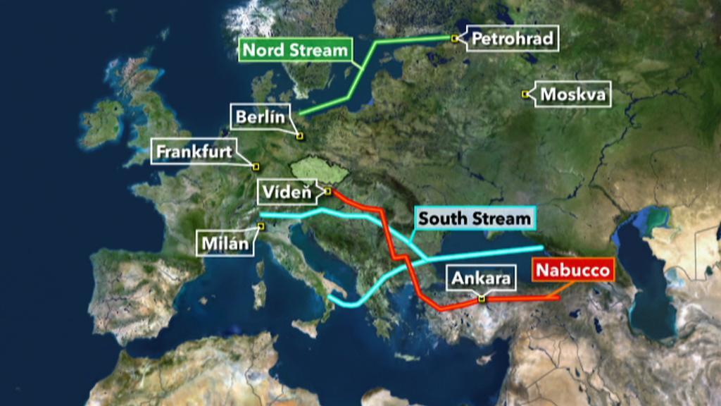 Plynovod Nabucco a South Stream