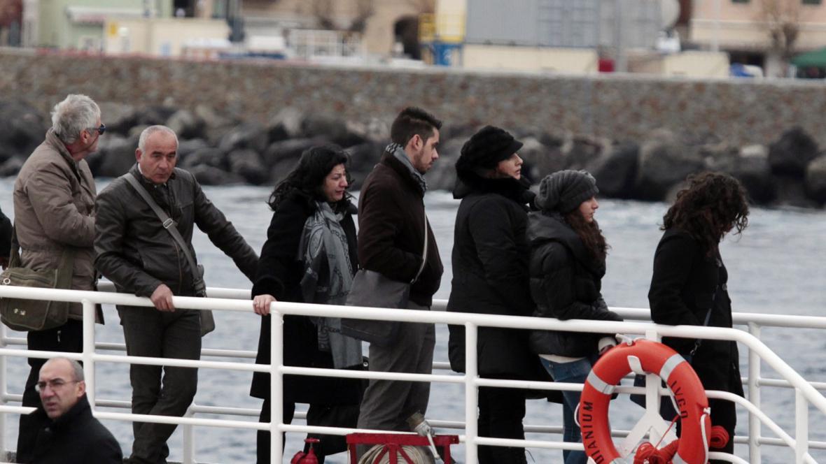 Vzpomínka na oběti havárie lodi Costa Concordia