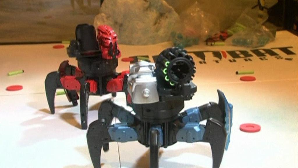 Roboti na veletrhu
