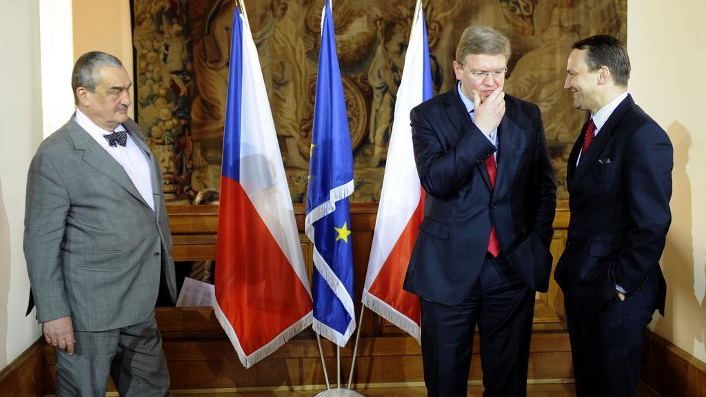 Schwarzenberg, Füle a Sikorski při setkání V4 a EU v Praze