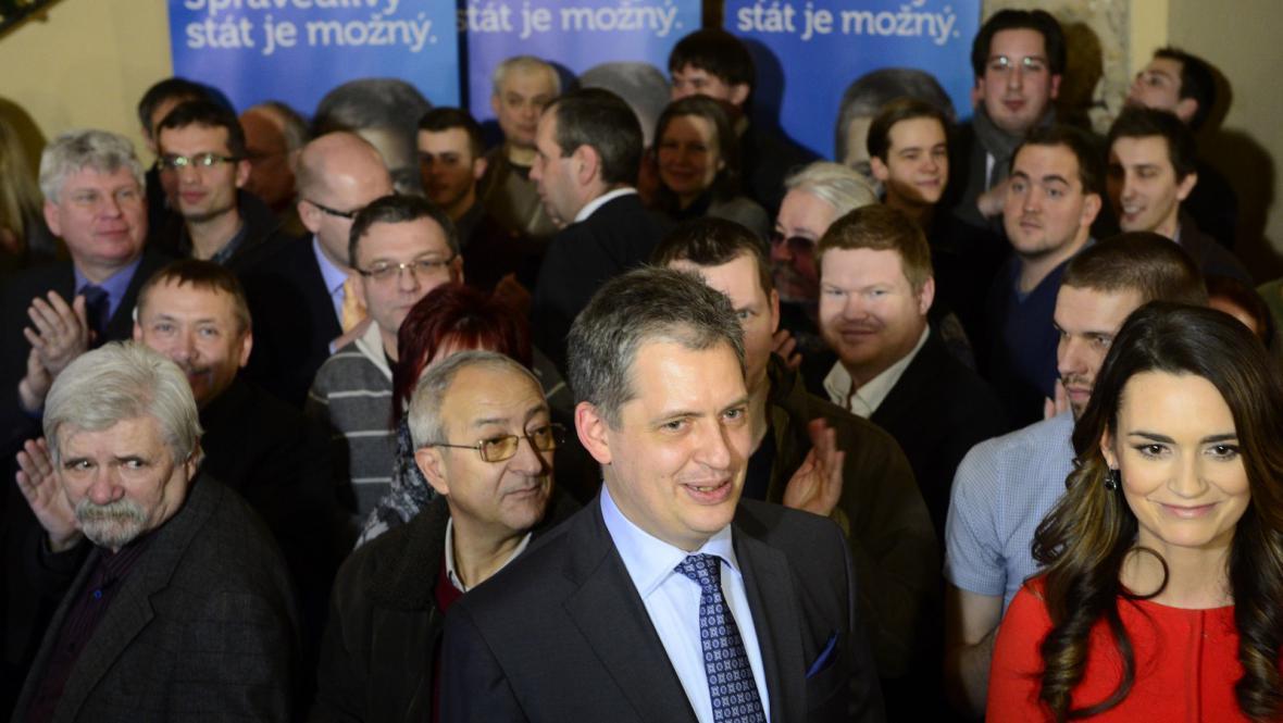 Volební štáb Jiřího Dientsbiera