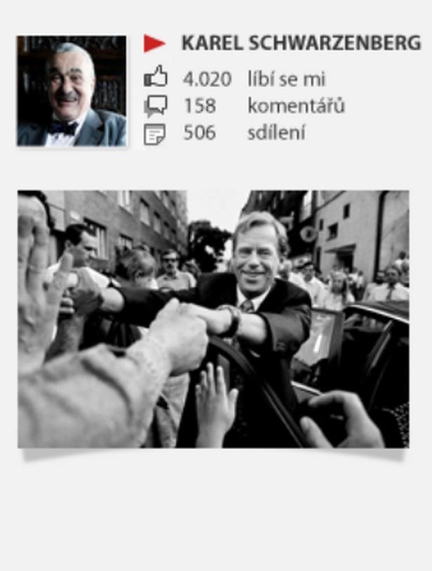 Nejpopulárnější Schwarzenbergův předvolební příspěvek