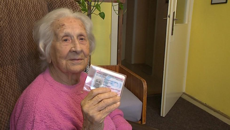 Vlastimila Češková volila ve svých 107 letech