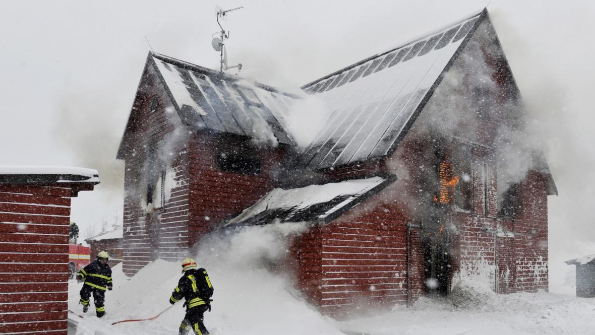 Požár apartmánového domu Klárka