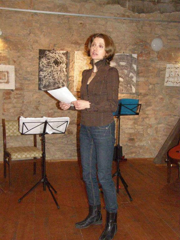 Adriana Rohde Kabele při vernisáži