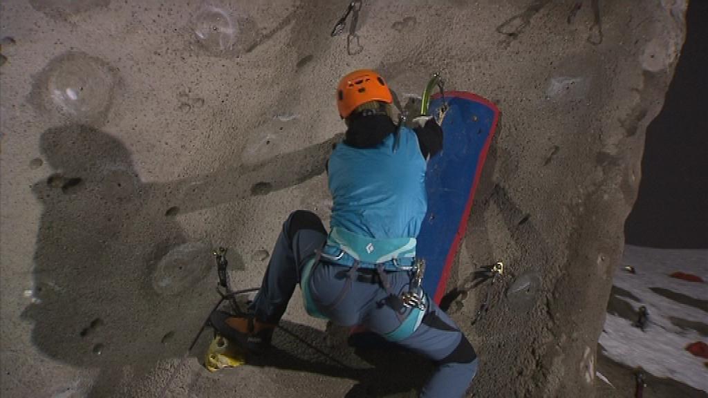 Martina Kratochvílová trénuje na největší lezecké stěne ve střední Evropě