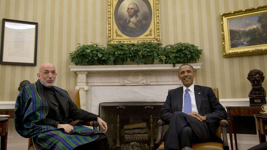 Hamíd Karzáí jedná v Bílém domě