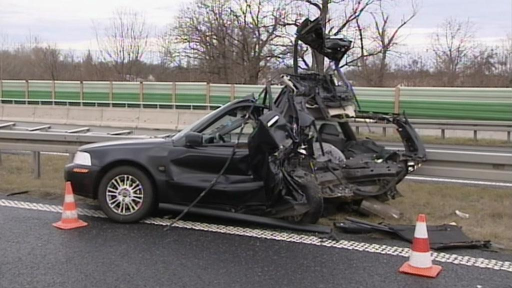 Nehoda na polské dálnici