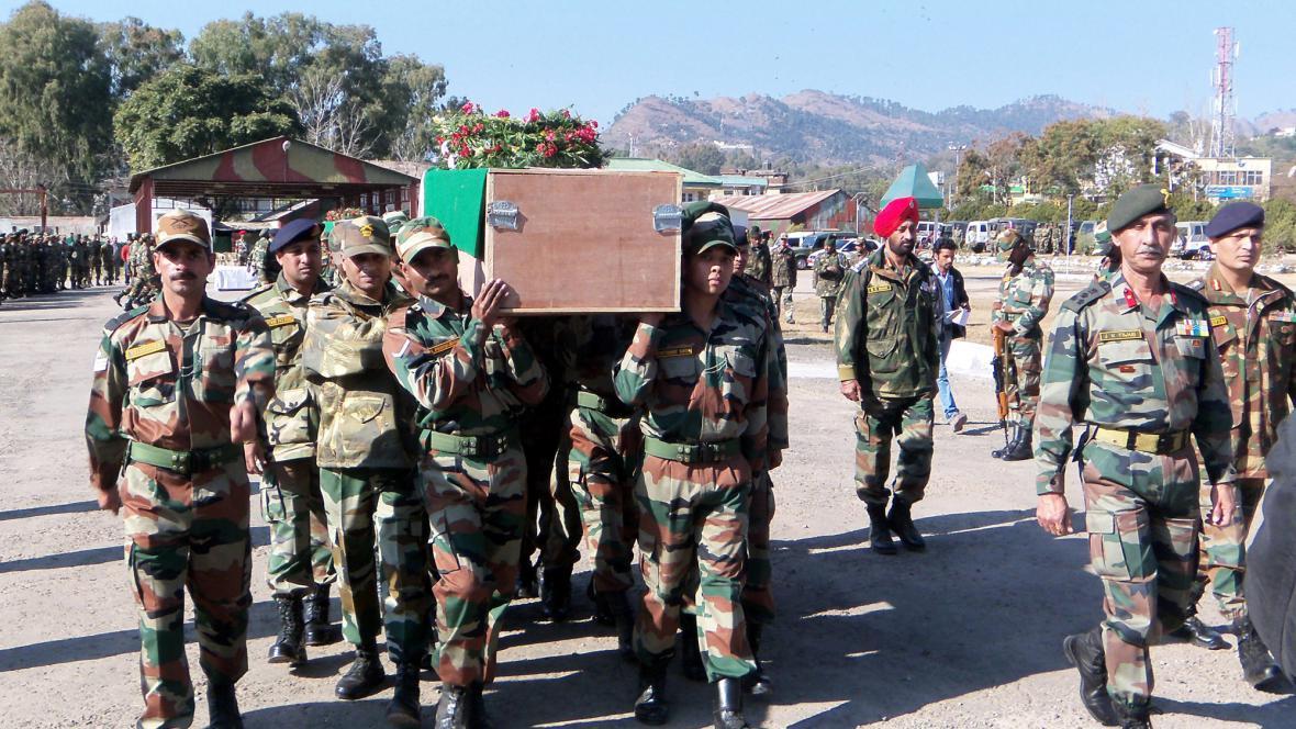 Ostatky indického vojáka