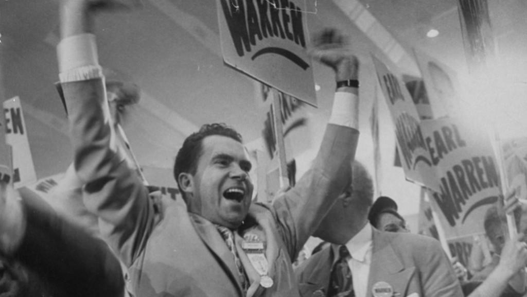 Nixon slaví vítězství v republikánských primárkách