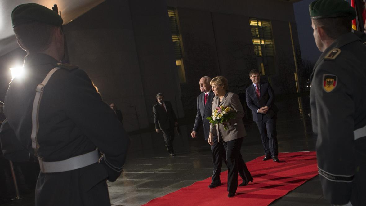 Václav Klaus a Angela Merkelová
