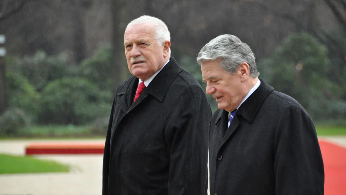 Václav Klaus a Joachim Gauck