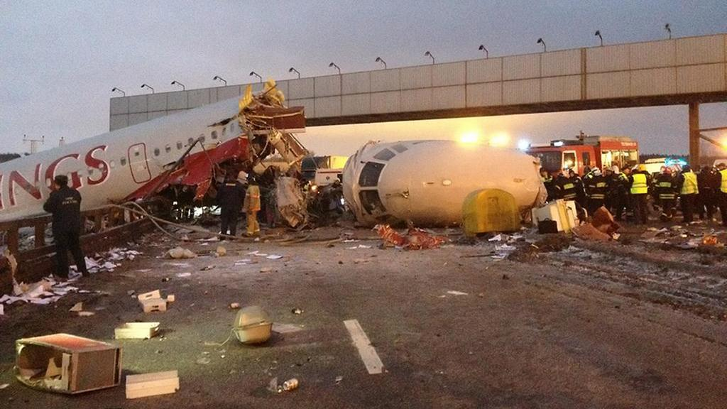 Havárie tupolevu na moskevském letišti Vnukovo