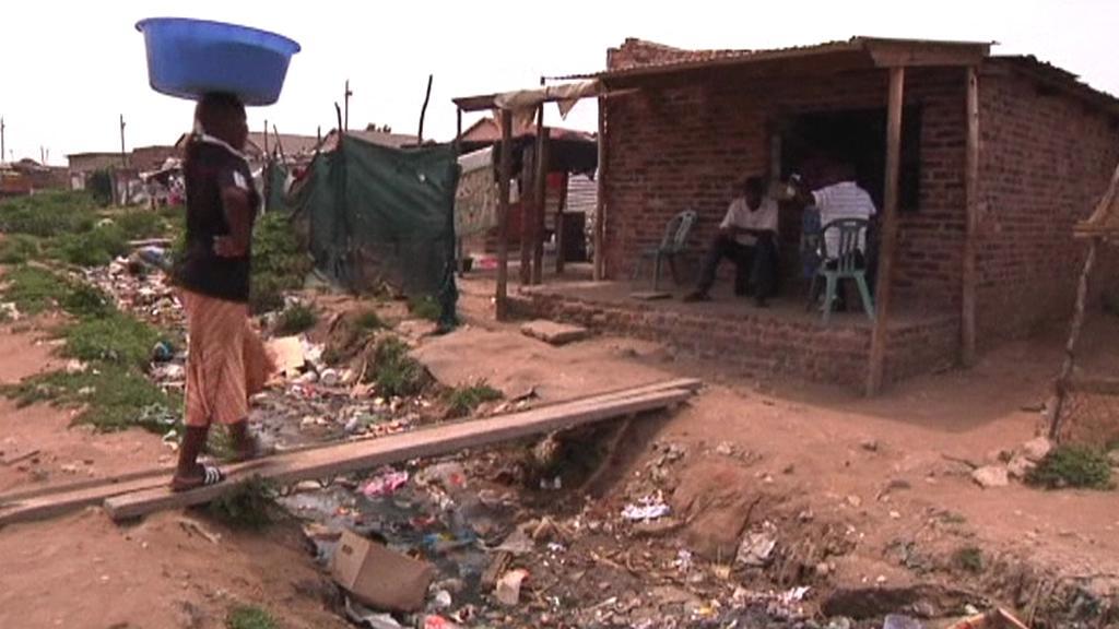 Chudinská čtvrt v Johannesburgu