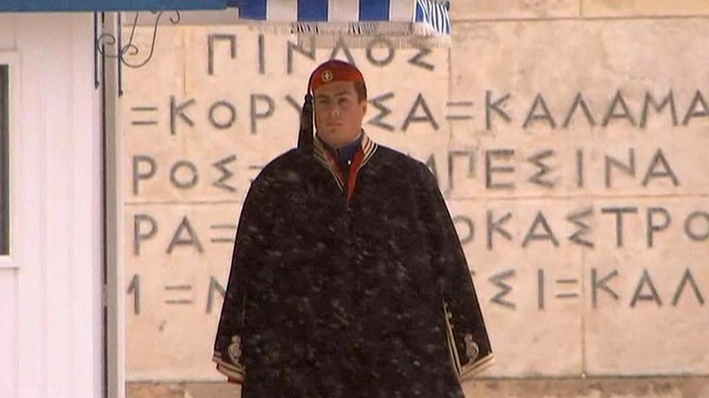 Řecko zasypal sníh