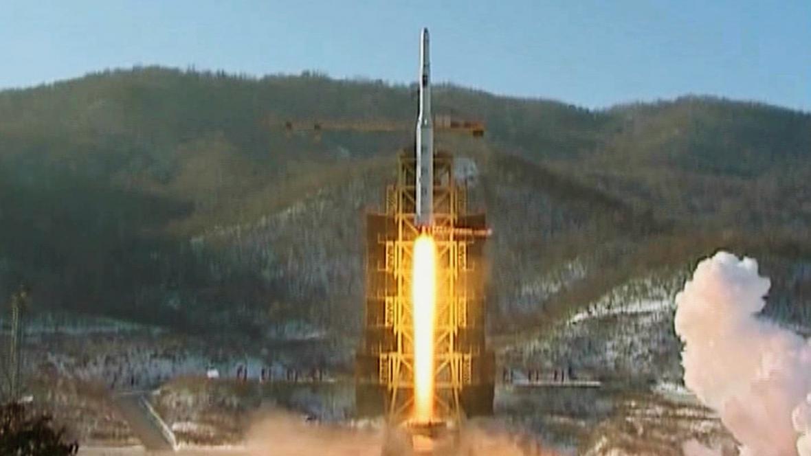 Start severokorejské rakety Unha-3