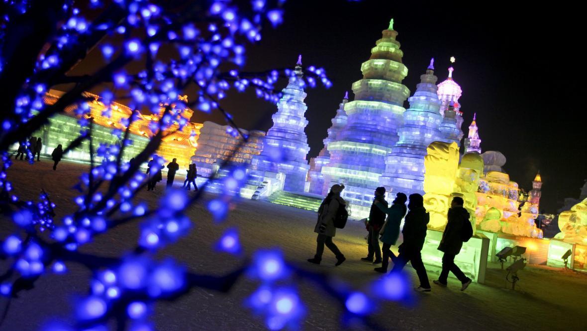 Festival ledu a sněhu v Číně