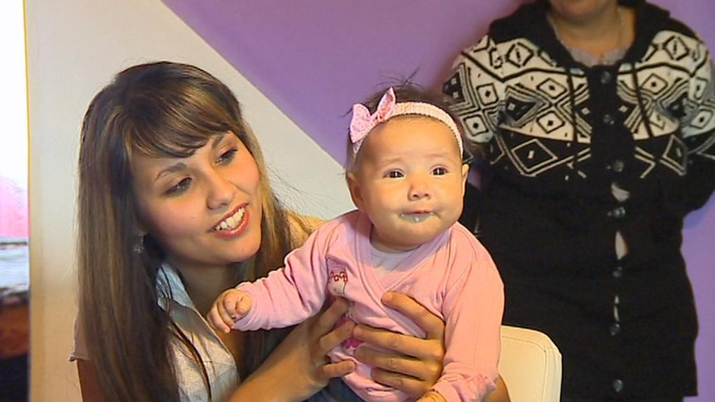 Michala s maminkou