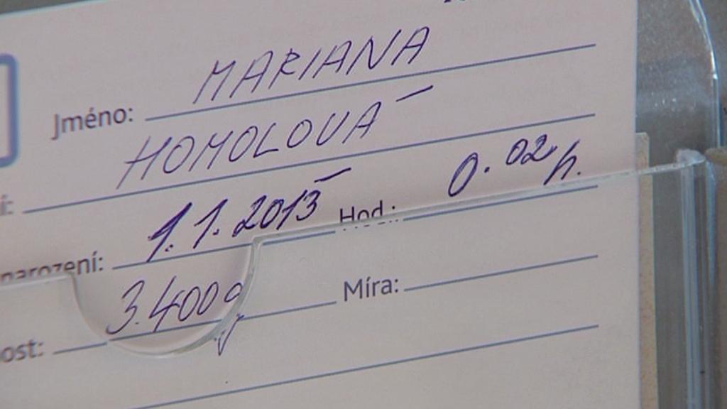 Mariana Homolová se narodila dvě minuty po silvestrovské půlnoci