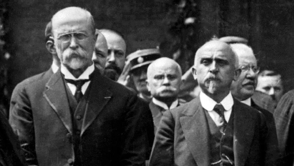 TGM a Alois Rašín, 1922