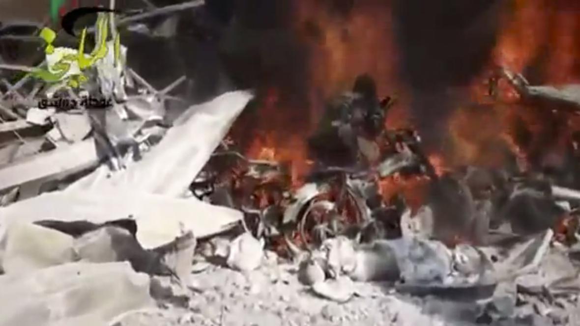 Útok na benzínku u Damašku