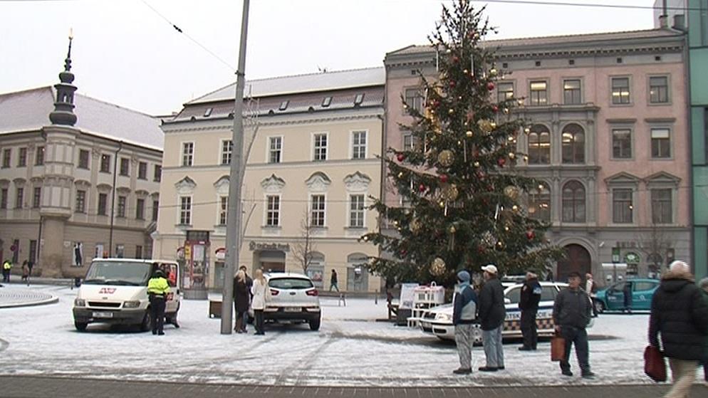 Kasička na náměstí Svobody v Brně se stala cílem zlodějů
