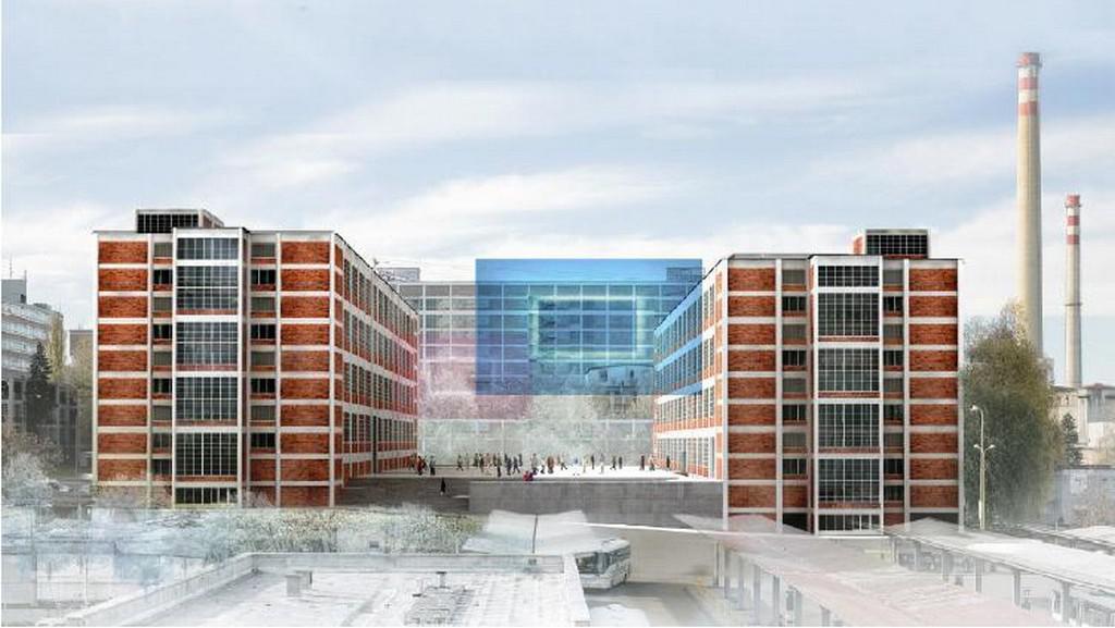 Vizualizace Krajského kulturního a vzdělávacího centra ve Zlíně