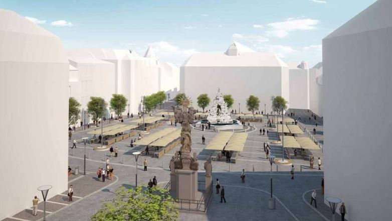 Vizualizace rekonstrukce Zelného trhu v Brně