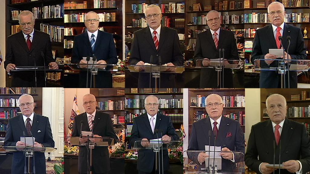 10 novoročních projevů prezidenta Klause